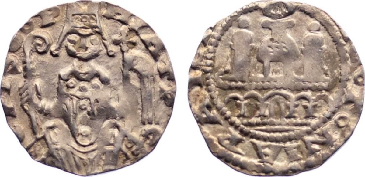 Pfennig 1167-1191 Köln, Erzbistum Philipp von Heinsberg 1167-1191. sehr schön