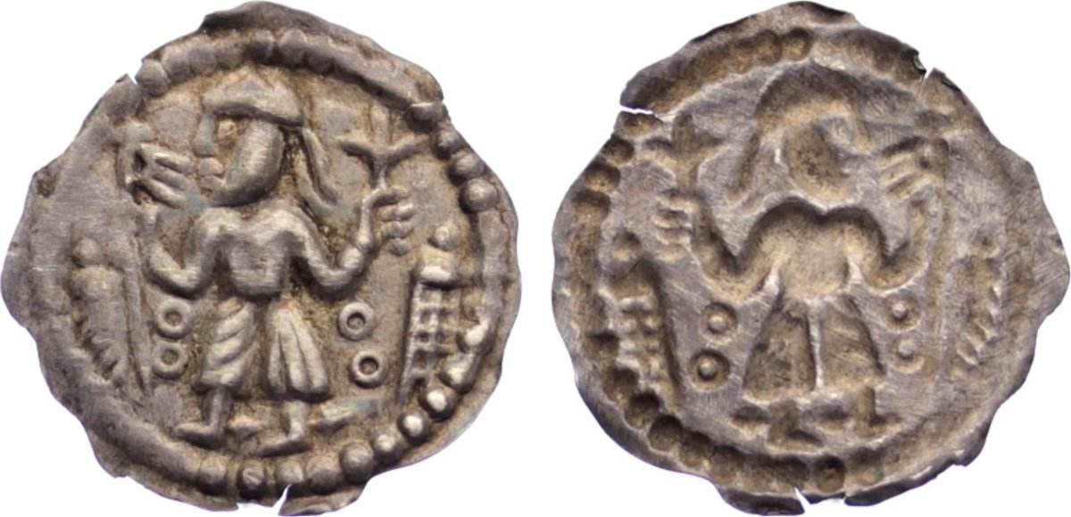 Brakteat 1146-1154 Dänemark Anonym Nordjütland 1146-1154. selten, fast vorzüglich