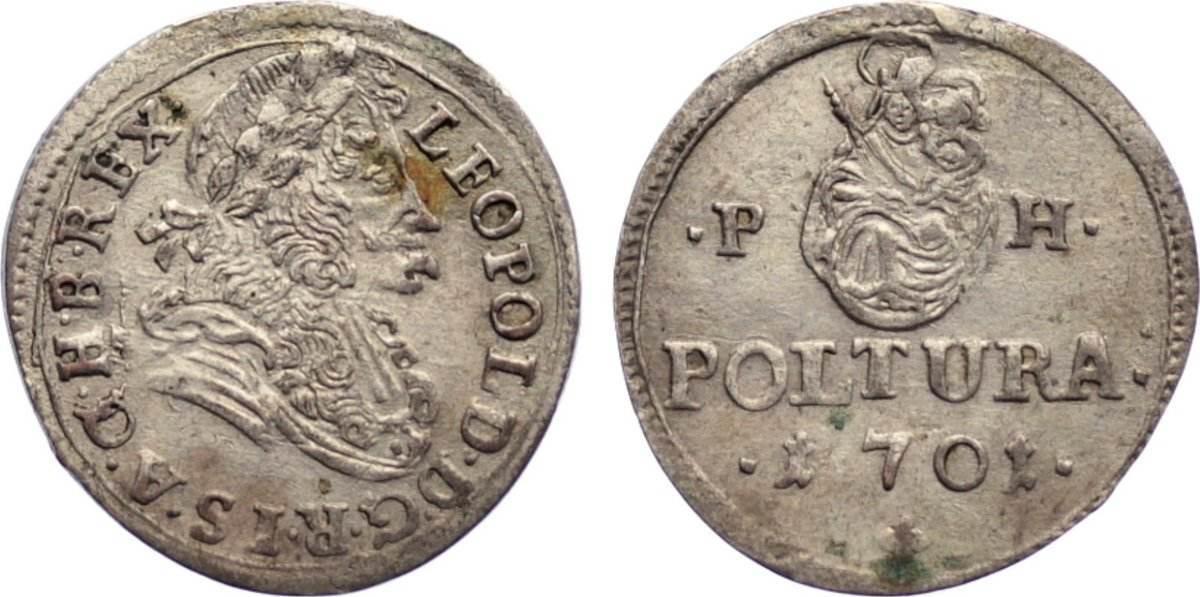 Poltura 1701 PH Haus Habsburg Leopold I. 1657-1705. sehr schön