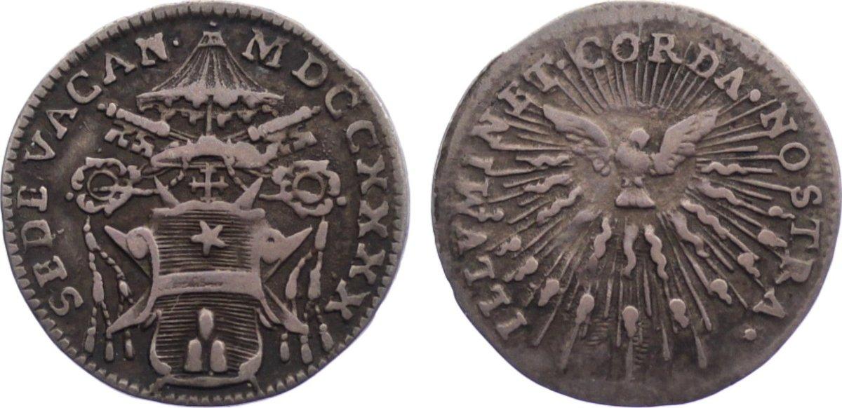 Grosso 1740 Italien-Kirchenstaat Sedisvakanz 1740. sehr schön
