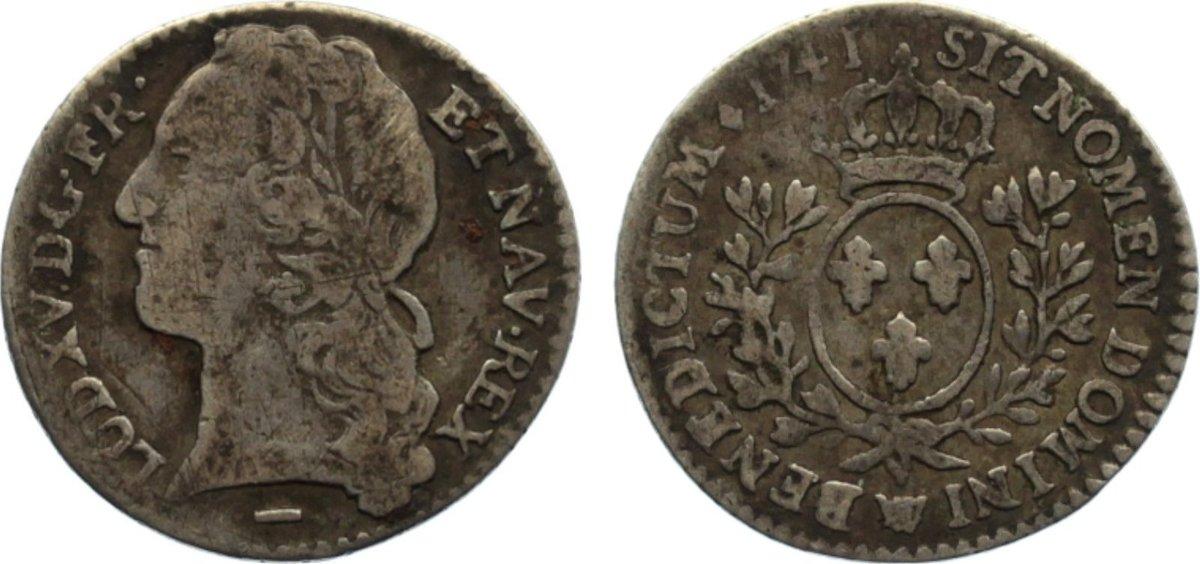 1/10 Écu au bandeau 1 1741 W Frankreich Ludwig XV. 1715-1774. sehr schön