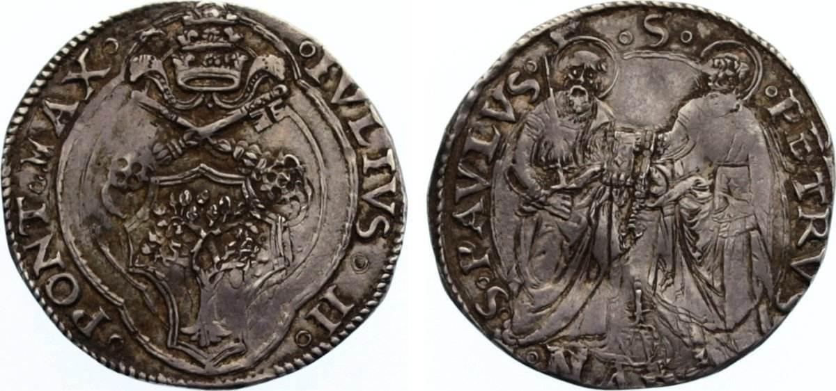 Guilio 1503-1513 Italien-Kirchenstaat Julius II. 1503-1513. leicht gewellt, sehr schön +