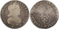 Frankreich 1/4 Écu à la mèche longue 165 Ludwig XIV. 1643-1715.