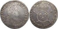 Frankreich 1/2 Ecu aux insignes Ludwig XIV. 1643-1715.