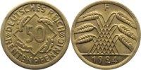 Weimarer Republik 50 Rentenpfennig Kursmünzen 1918-1933.