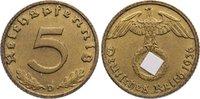 Drittes Reich 5 Reichspfennig Kursmünzen 1933-1945.