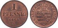 Sachsen-Altenburg Cu Pfennig Ernst 1853-1908.