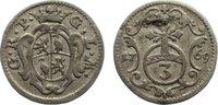 Reuss, ältere Linie zu Obergreiz 3 Pfennig Heinrich XI. 1723-1800.