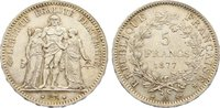 Frankreich 5 Francs Dritte Republik 1870-1940.