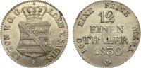 Sachsen-Albertinische Linie 1/12 Taler Anton 1827-1836.