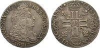 Frankreich 1/2 Écu aux 8L 1 Ludwig XIV. 1643-1715.