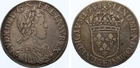 Frankreich 1/2 Écu à la mèche longue 165 Ludwig XIV. 1643-1715.