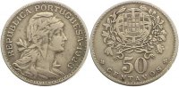 Portugal 50 Centavos Republik seit 1910.
