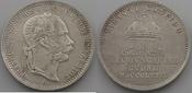 Jeton 1867 Haus Habsburg Franz Josef I. 1848-1916 Ungarische Krönung Buda vz