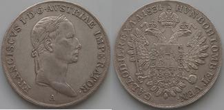 1/2 Taler 1831 A Haus Habsburg Franz II./I., 1792-1835 ss