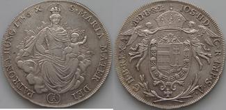 1/2 Taler 1786 A Haus Habsburg Josef II. 1765-1790 ss-vz