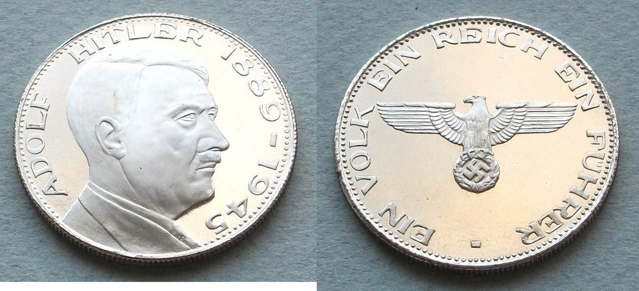 Medaille 1889 1945 Drittes Reich Adolf Hitler 1889 1945 Proof