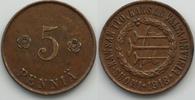 Finnland 5 pennia Ausgabe des Volkskommissariats