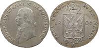 Preussen Friedrich Wilhelm III. (1797-1840) 4 Groschen 1806 vz-