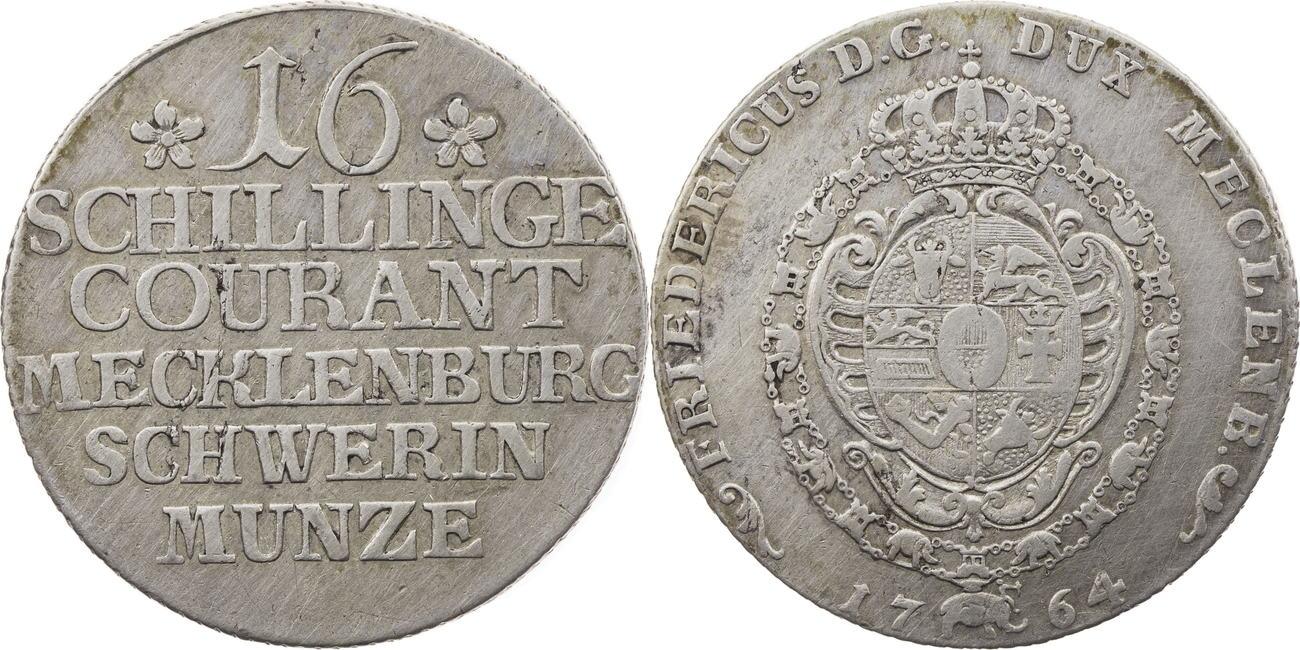 16 Schillinge 1764 Mecklenburg-Schwerin ss