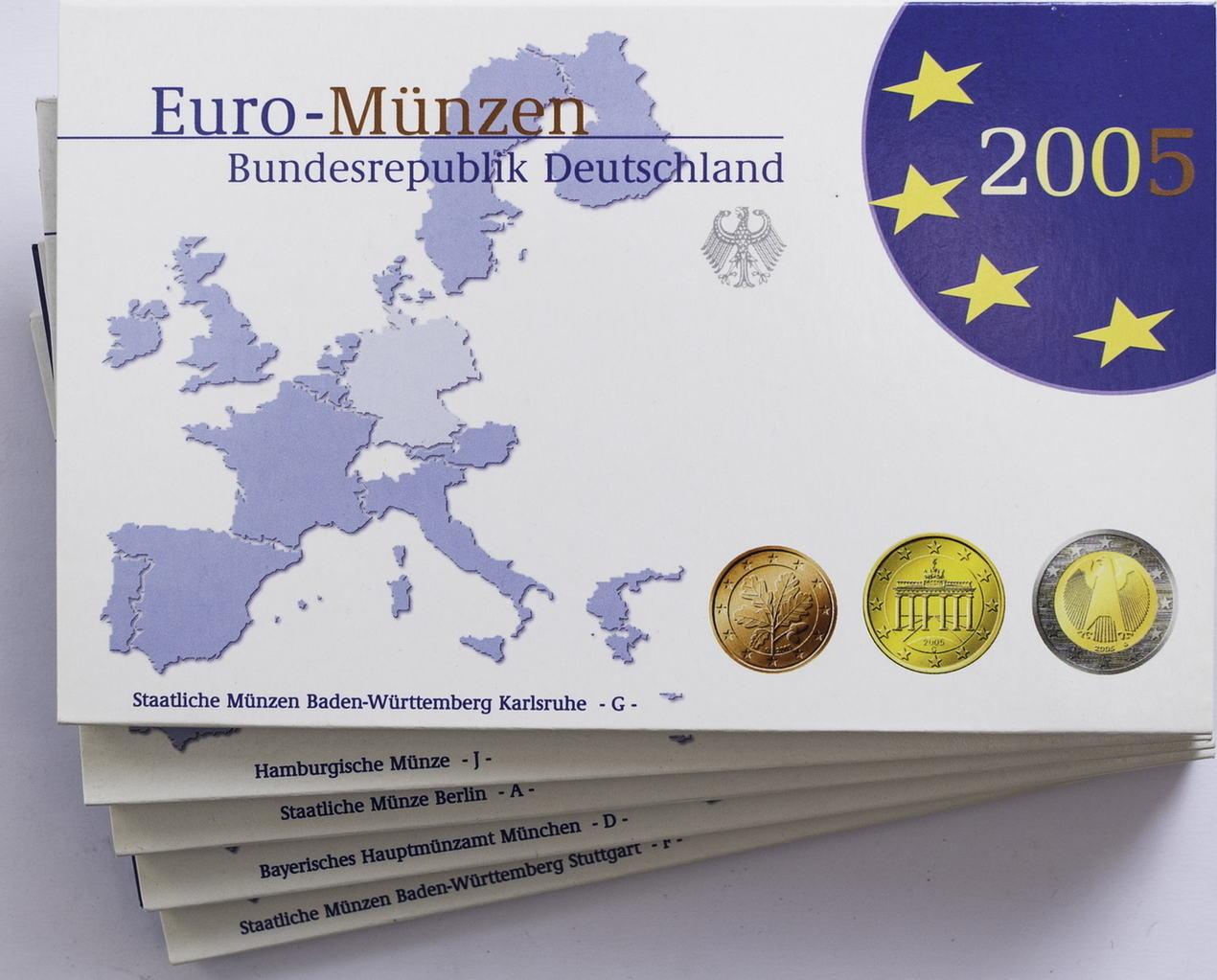 2005 Deutschland Bundesrepublik Kms Adfgj Pp Ma Shops