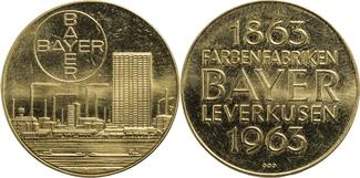 1963 Deutschland 100 Jahre Farbefabrik BAYER Leverkusen vz