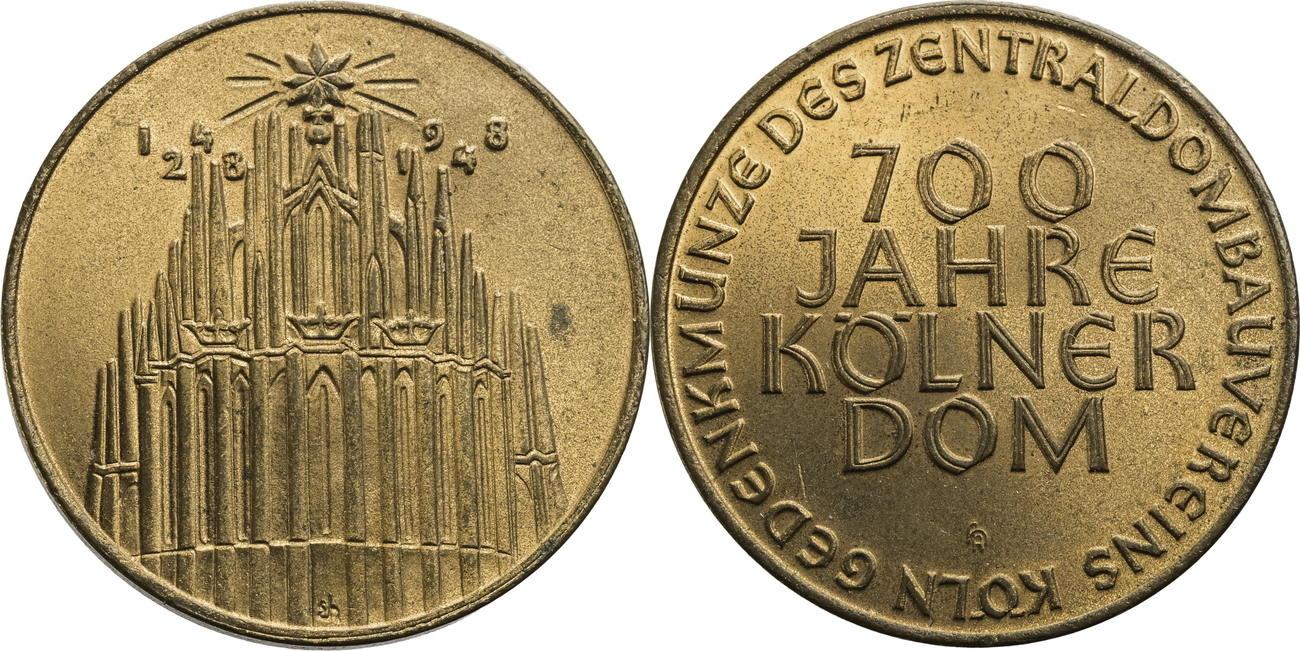 Medaille 1948 Köln 700 Jahre Kölner Dom Vz Ma Shops
