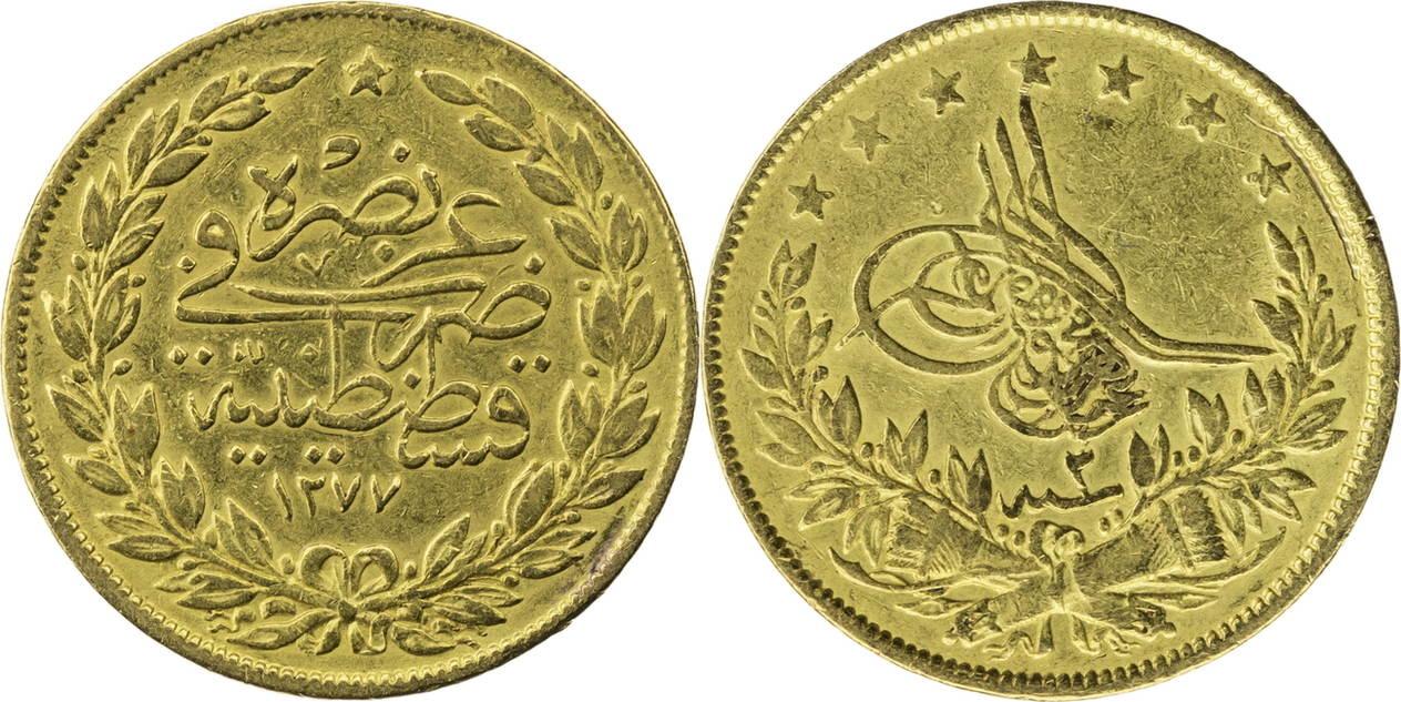 100 Kurush 1868 Osmanisches Reich Ss Ma Shops
