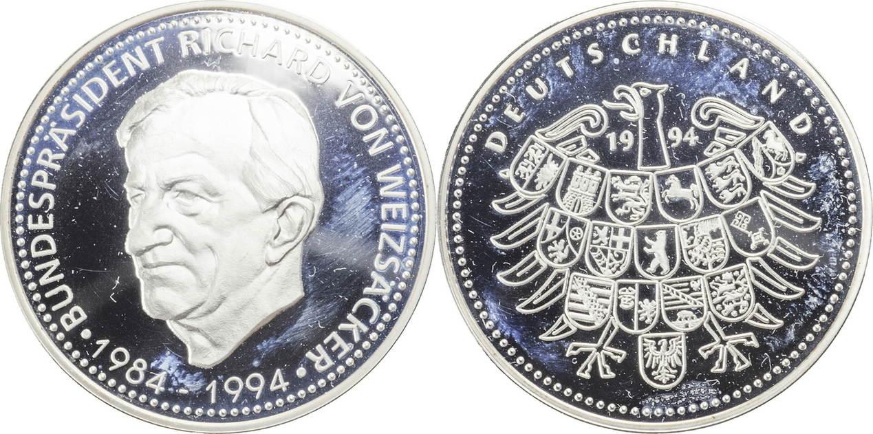 1994 Deutschland Medaille Richard Von Weizsäcker 1994 Pp Ma Shops