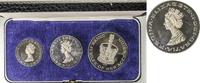 England / United Kingdom  3teiliges Medaillenset anl. des silbernen Tronjubiläums QEII