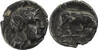 Lukanien Nomos Thurioi / Athenakopf / Stier