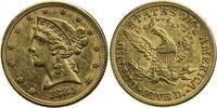 Vereinigte Staaten von Amerika 5 Dollars 5 Dollars 1881 ohne Mzz. (Half Eagle) Liberty-Kopf (Coronet-type)