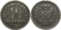 Deutschland - Kaiserreich 10 Pfennig bester Jahrgang, selten in dieser Erhaltung!