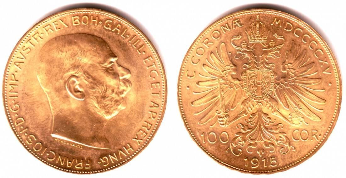 100 Kronen 1915 Np österreich Kaiser Franz Joseph I Prägefrisch