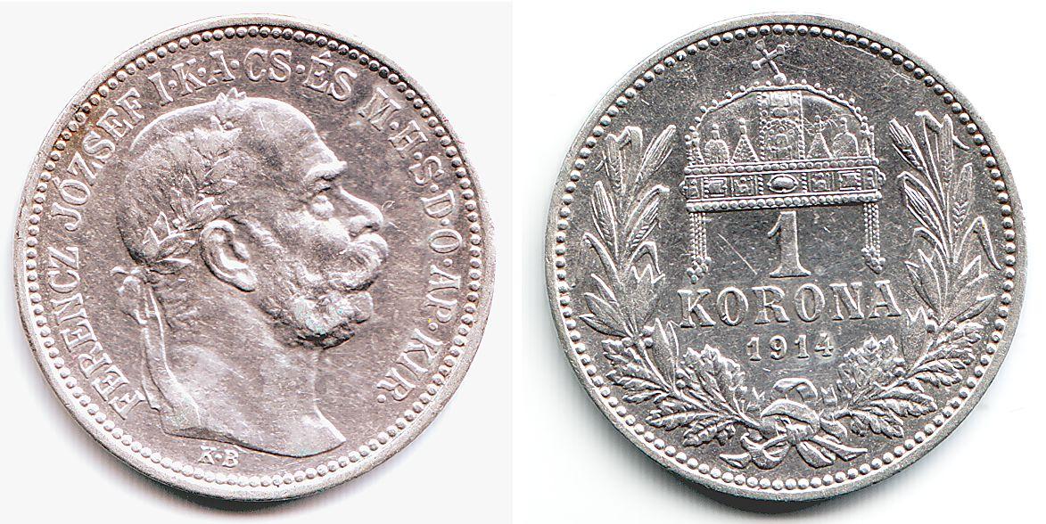 1 Krone 1914 österreich Franz Joseph I 1848 1916 Vz St Ma Shops