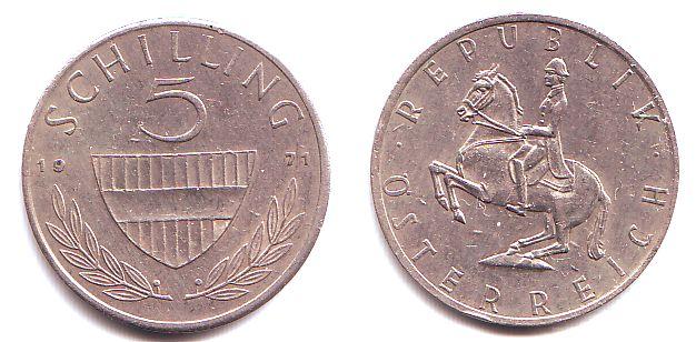 5 Schilling 1971 österreich 5 Schilling 2 Republik Prägefrisch