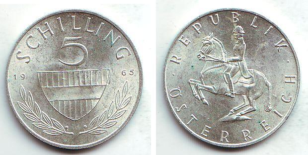 5 Schilling 1965 österreich 5 Schilling 2 Republik St Ma Shops