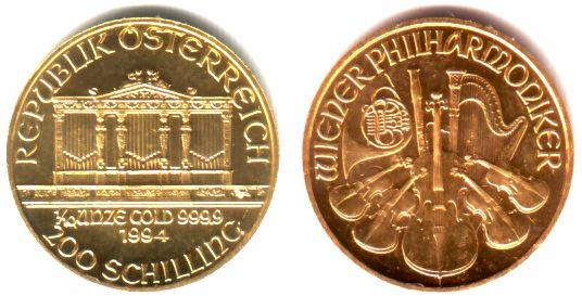200 Schilling 1995 österreich 110 Unze Goldmünze Wiener