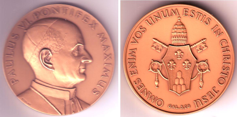 Medaille Vatikan Gedenkprägung Papst Paulus Vi St Ma Shops