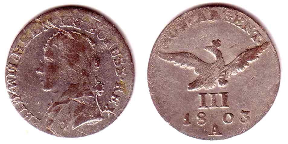 3 Groschen 1803 A Brandenburg Preussen Schlesien König Friedrich