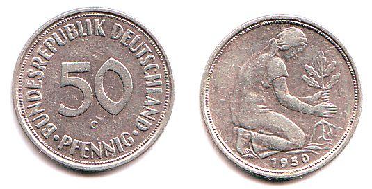 Bundesrepublik deutschland pfennig 50 elmekki