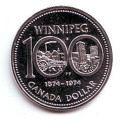 1 Dollar 1974 Kanada 100 Jahre Winnipeg St Ma Shops