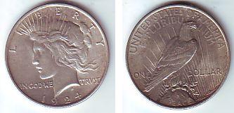1 Dollar 1924 Usa Silbermünze Peace Prägefrisch Ma Shops