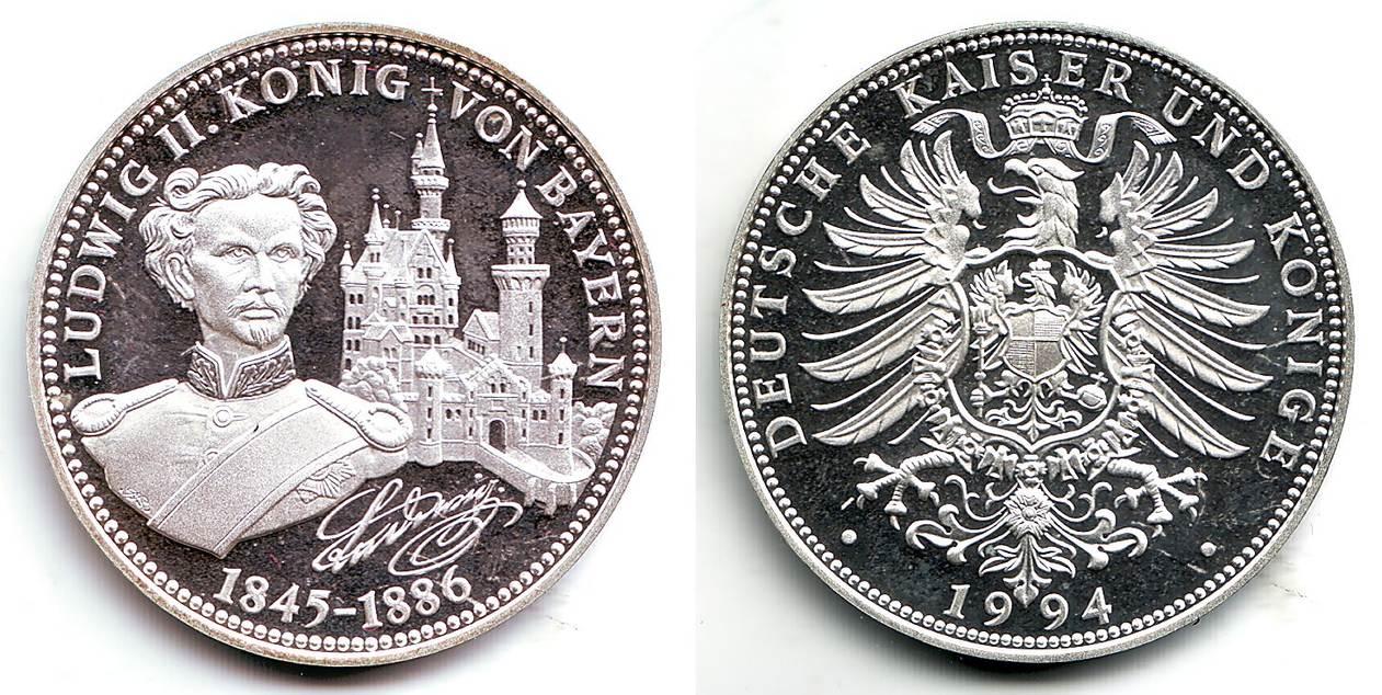 Medaille 1994 Bayern Deutsche Geschichte König Ludwig Ii 1845