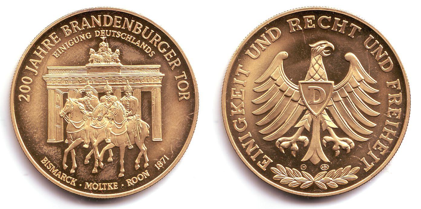 Medaille 1971 Berlin Deutsche Geschichte 200 Jahre Brandenburger
