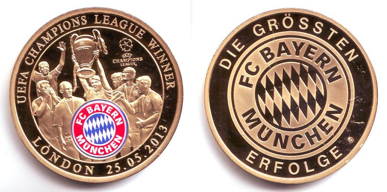 Medaille 2013 Deutschland Bayern Fc Bayern München Erfolge Uefa