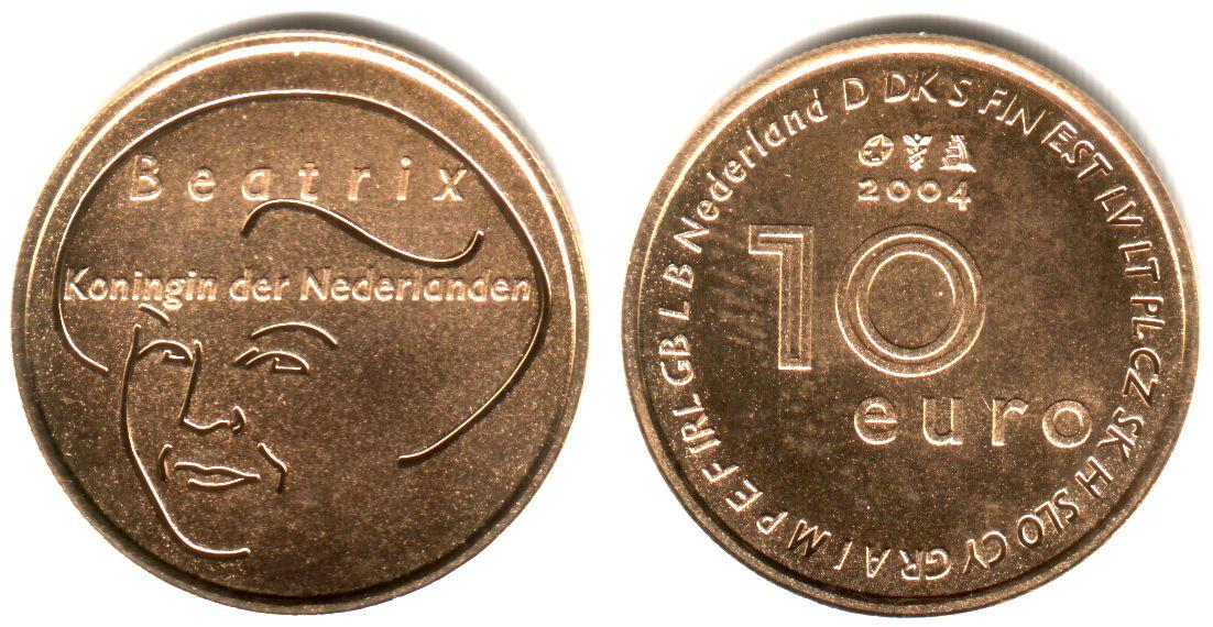 10 Euro 2004 Niederlande EU-Erweiterung Proof