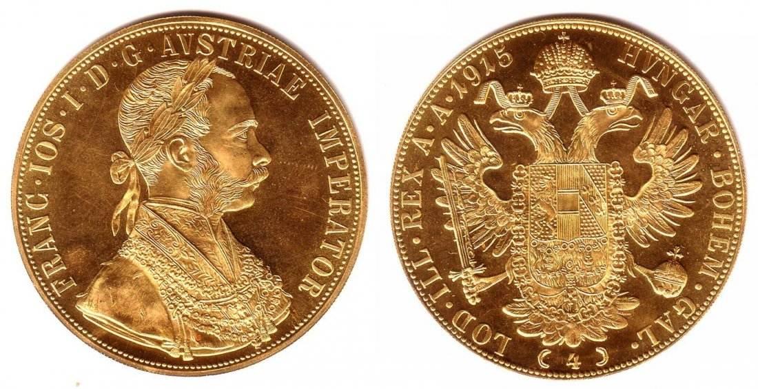 4 Dukaten 1915 Np österreich Goldmünze Kaiser Franz Joseph