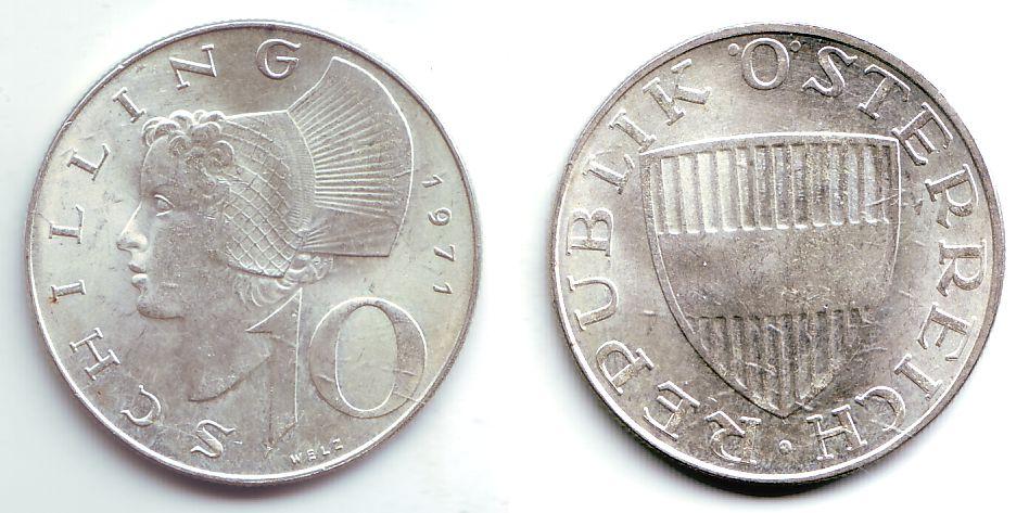 10 Schilling 1971 österreich 10 Schilling St Ma Shops