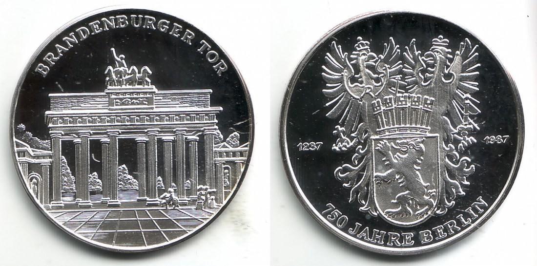 Medaille 1987 Berlin Silbergedenkprägung 750 Jahre Berlin